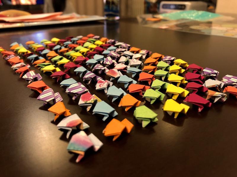 娘が作った折り紙