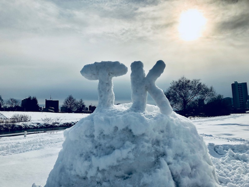 TKの雪像