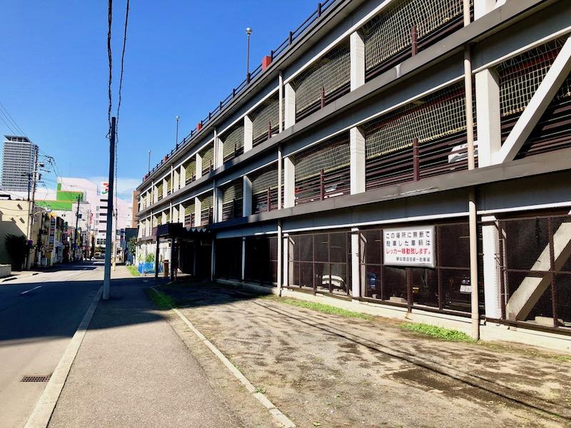 琴似商店街第一駐車場 出口側