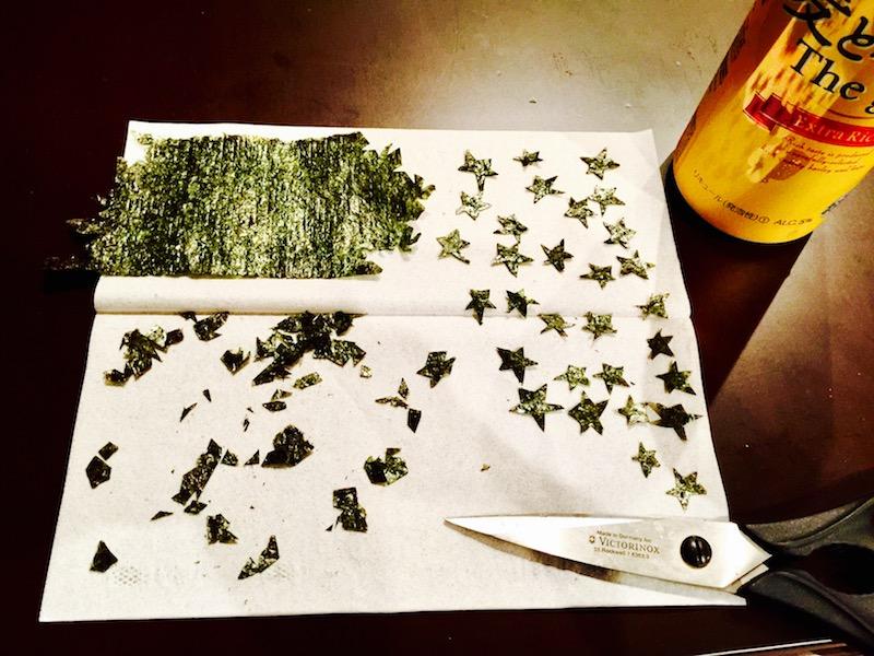 星型に刻んだ海苔