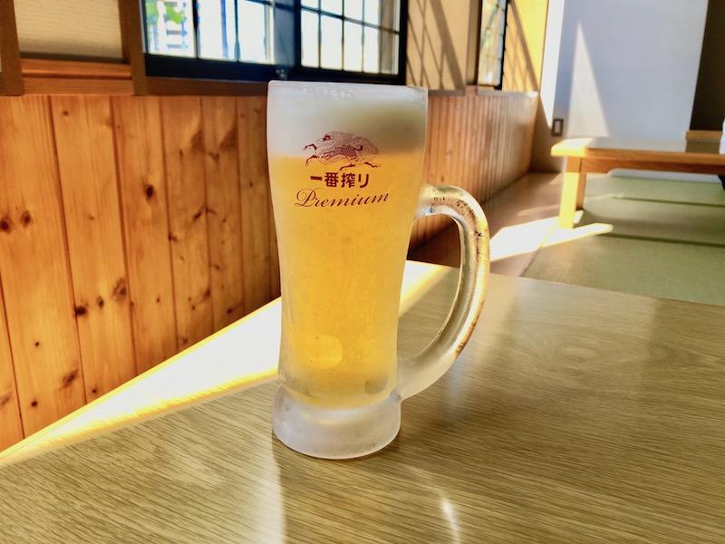 湯上り後のビール