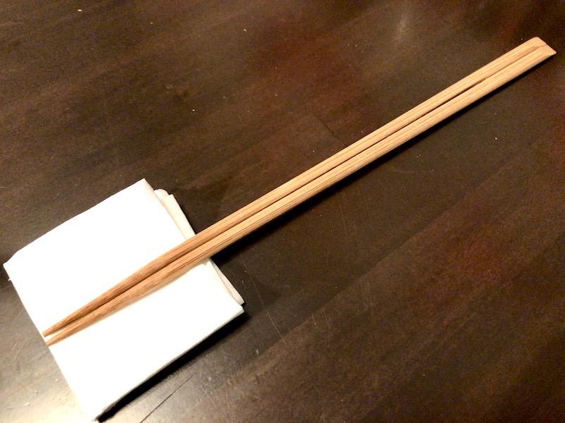 使いやすい細身な割り箸