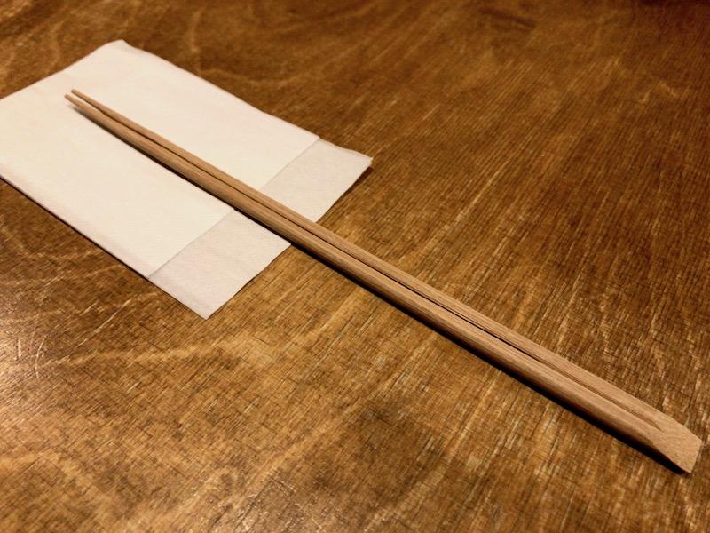 使いやすい細身の割り箸