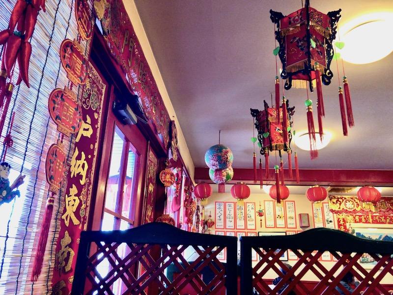 玉林酒家 入口付近の装飾