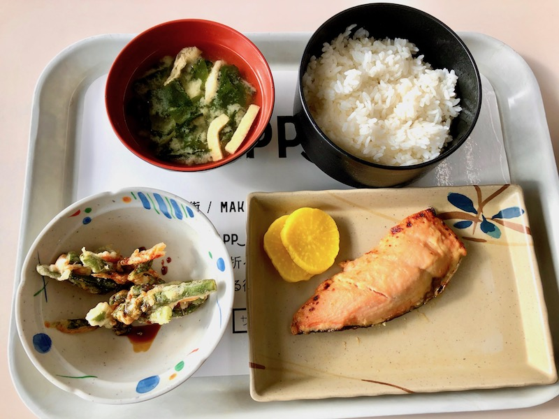 おさかな定食 銀鮭味噌焼き
