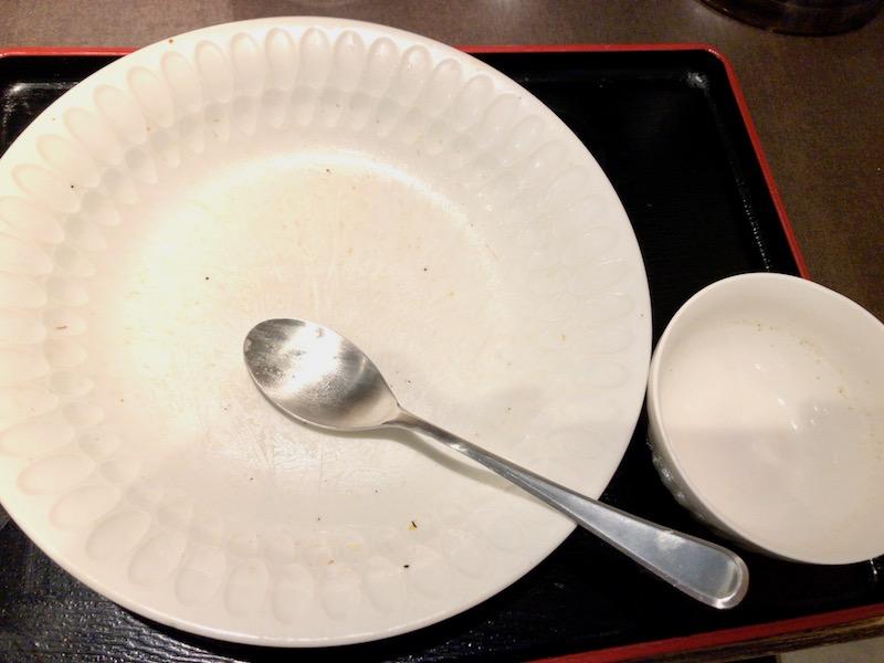 チャーハン・スープ完食