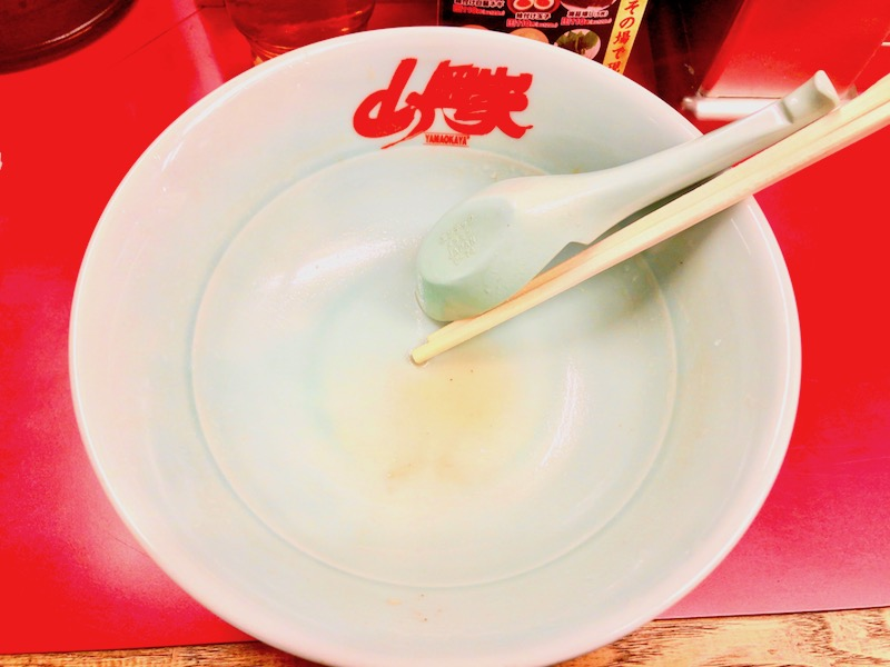 醤油ラーメン完食