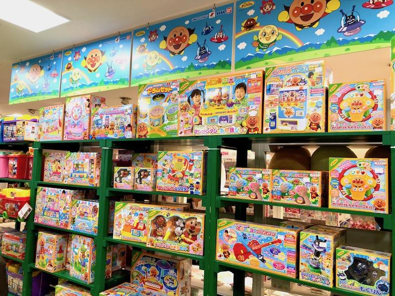 アンパンマンのおもちゃコーナー