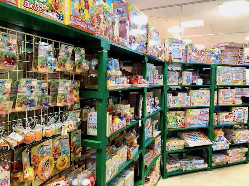 別の角度からアンパンマンのおもちゃコーナー