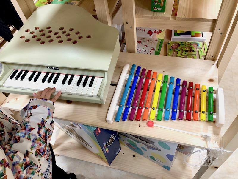楽器のおもちゃコーナー