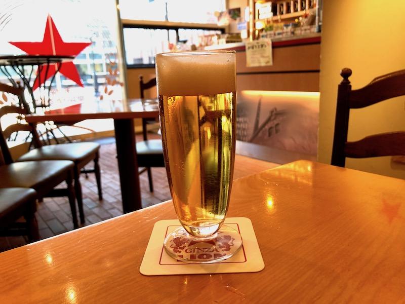 済んだ美しい色をしたビール