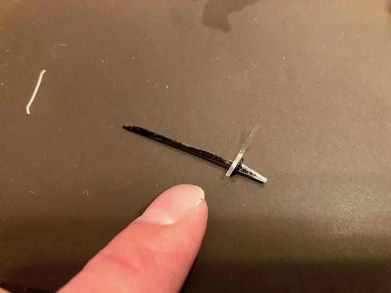 鍔の上部分を作る